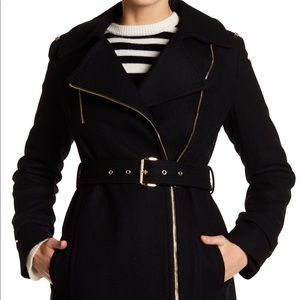 Michael Kors asymmetrical wool coat